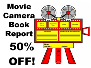 50% Off Movie Camera Book Report Projects | Documents and Forms | Templates