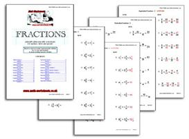 Fractions Math Worksheets | eBooks | Non-Fiction