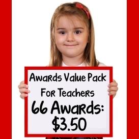 printable award certificates value pack for school teachers