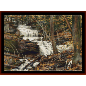 Fall Through the Woods - Americana cross stitch pattern by Cross Stitch Collectibles | Crafting | Cross-Stitch | Wall Hangings
