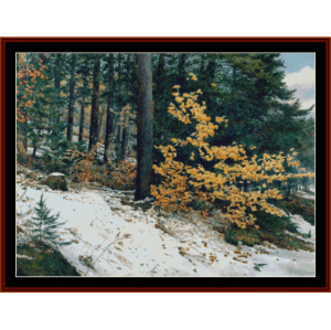 Early Snow - Americana cross stitch pattern by Cross Stitch Collectibles   Crafting   Cross-Stitch   Wall Hangings