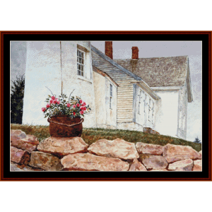Island Rose - Americana cross stitch pattern by Cross Stitch Collectibles | Crafting | Cross-Stitch | Wall Hangings