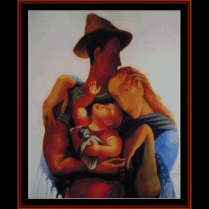 Family - Almada Negreiros cross stitch pattern by Cross Stitch Collectibles | Crafting | Cross-Stitch | Wall Hangings