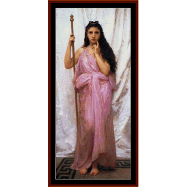 priestess, 1902 - bouguereau cross stitch pattern by cross stitch collectibles