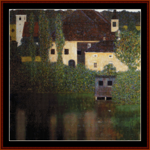 Water Castle - Klimt cross stitch pattern by Cross Stitch Collectibles | Crafting | Cross-Stitch | Wall Hangings
