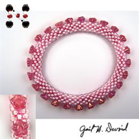 Flower Bead Crochet Bracelet Pattern