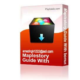 Maplestory Guide With bonuses | eBooks | Games