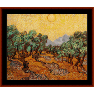 Olive Trees - Van Gogh cross stitch pattern download