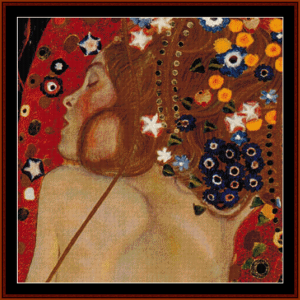 mother and child - klimt cross stitch pattern by cross stitch collectibles