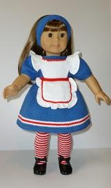 doll knitting pattern - sb002-alice in wonderland