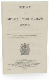 report of imperial war museum 1917-1918.