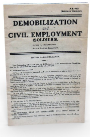 demobilization and civil employment.