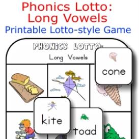 phonics lotto: long vowels