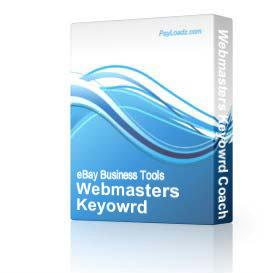 Webmasters Keyowrd Coach | Software | Internet
