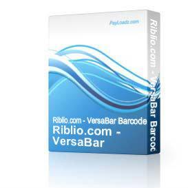 Riblio - VersaBar Barcode Software | Software | Utilities