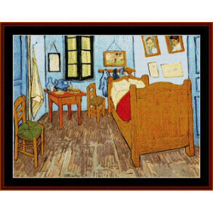 bedroom at arles - van gogh cross stitch pattern by cross stitch collectibles