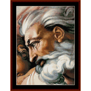 God - Michelangelo cross stitch pattern by Cross Stitch Collectibles | Crafting | Cross-Stitch | Wall Hangings