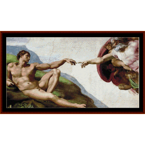 Creation of Adam -Michelangelo cross stitch pattern download