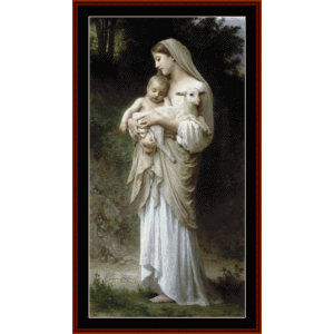 innocence - bouguereau cross stitch pattern by cross stitch collectibles