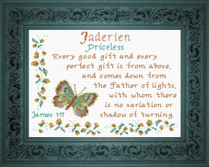 Name Blessings - Jaderien | Crafting | Cross-Stitch | Religious