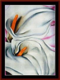 Two Calla Lilies - O'Keeffe cross stitch pattern download