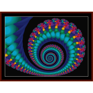 Fractal 6 cross stitch pattern by Cross Stitch Collectibles | Crafting | Cross-Stitch | Wall Hangings