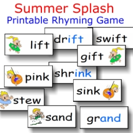 summer splash rhyming fun