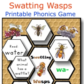 swatting wasps phonics game