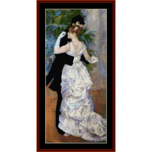 city dance - renoir cross stitch pattern by cross stitch collectibles
