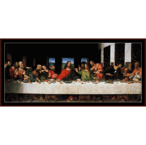 the last supper- davinci cross stitch pattern by cross stitch collectibles