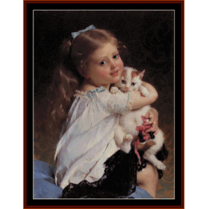 Her Best Friend - Emile Munier cross stitch pattern download