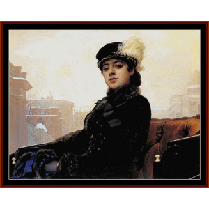 Portrait of a Woman - Kramskoy cross stitch pattern download