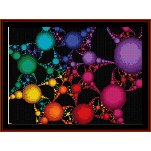 fractal 58 cross stitch pattern by cross stitch collectibles