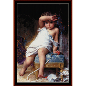 The Broken Vase - Emile Munier cross stitch pattern download