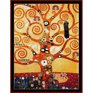 tree of life - klimt cross stitch pattern by cross stitch collectibles