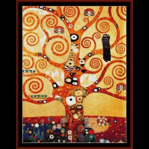 tree of life - klimt cross stitch pattern by cross stitch collectibles
