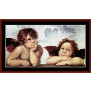 sistine madonna ii - raphael cross stitch pattern by cross stitch collectibles