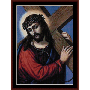 Jesus cross stitch download