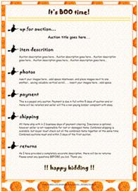 Pumpkin Ebay Template by SCTRADEKAT | Other Files | Patterns and Templates