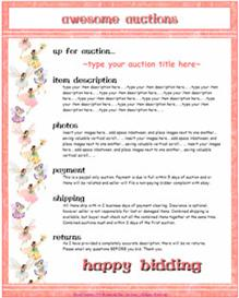 Fairy Ebay Template by SCTRADEKAT | Other Files | Patterns and Templates