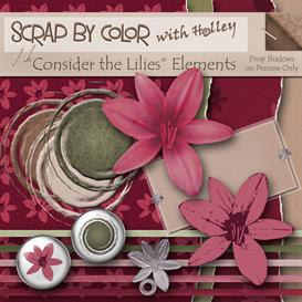 Consider the Lilies Elements | Other Files | Scrapbooking