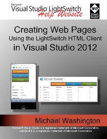 creating web pages using the lightswitch html client in visual studio 2012