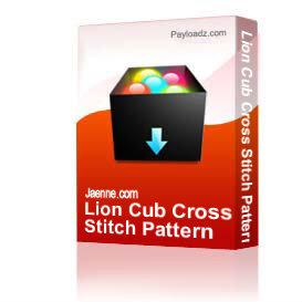 Lion Cub Cross Stitch Pattern | Other Files | Patterns and Templates
