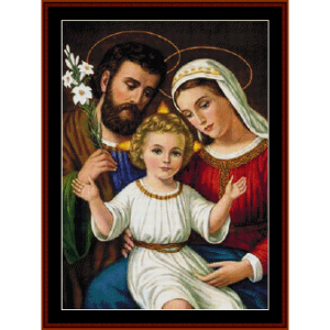 The Holy Family - Religious cross stitch pattern by Cross Stitch Collectibles | Crafting | Cross-Stitch | Wall Hangings