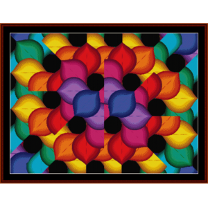 fractal 144 cross stitch pattern by cross stitch collectibles