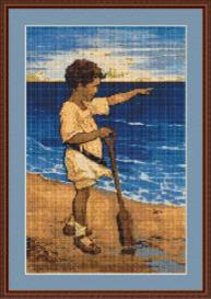 Boy on the Beach Cross Stitch | Other Files | Arts and Crafts