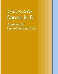 pachelbel canon in d - piano solo arrangement