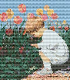 spring flowers cross stitch