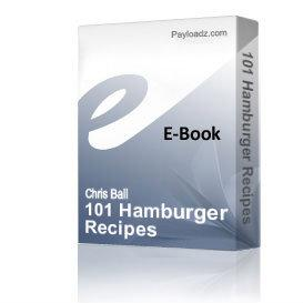101 hamburger recipes
