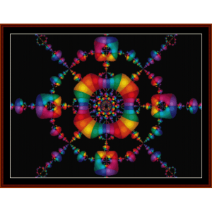 fractal 129 cross stitch pattern by cross stitch collectibles